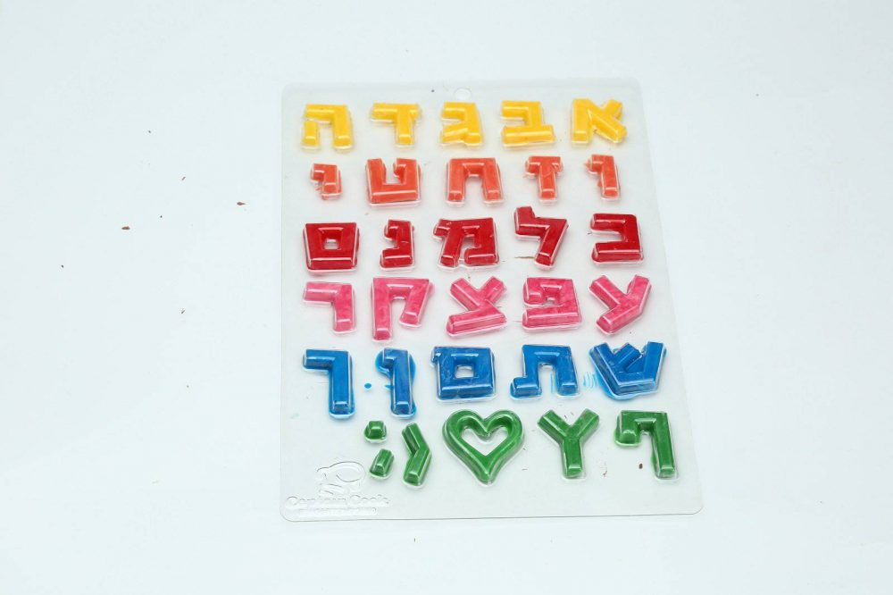 תבנית פלסטיק אותיות דפוס