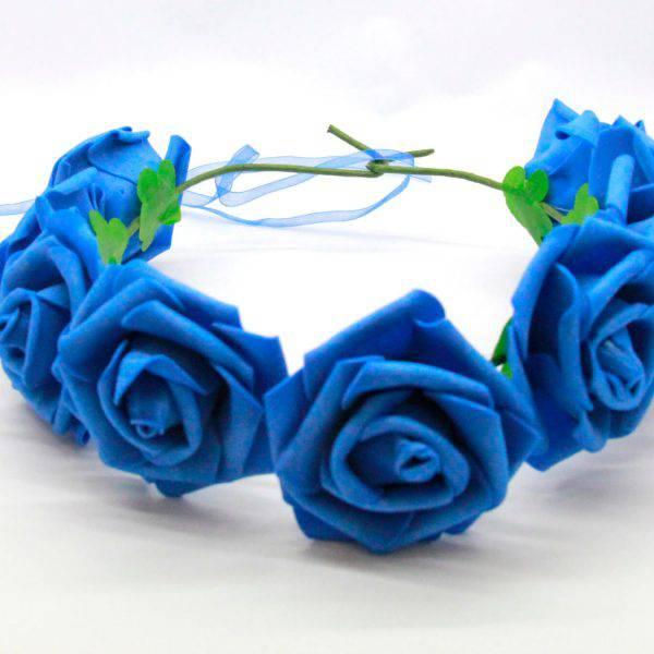 זר פרחים כחול גדול