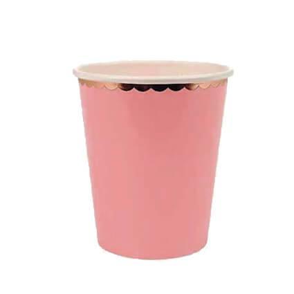 כוסות ורוד זהב 10 יח