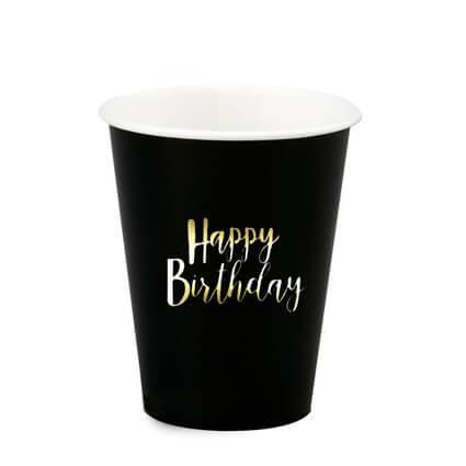 כוסות נייר דגם שחור  10 יח