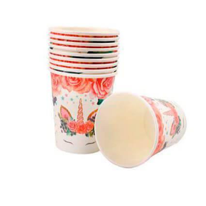 כוסות חד קרן ריסים 10 יח