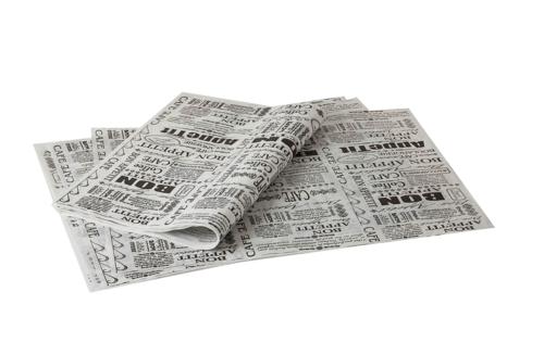 נייר פרגמנט עיתון שחור לבן  – 30 יחידות