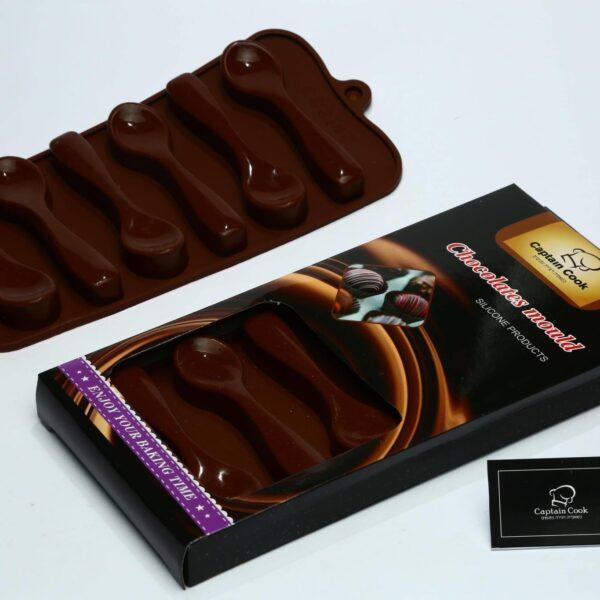תבנית סיליקון כפיות לשוקולד