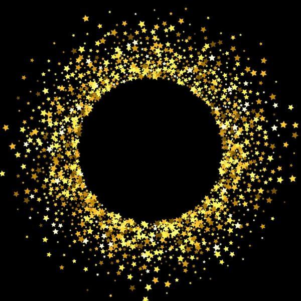 טפט הילת כוכבים זהב