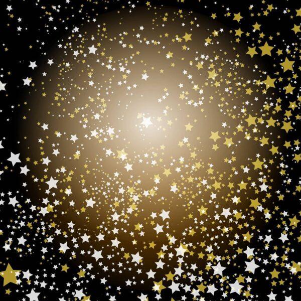 טפט כוכבים שחור זהב