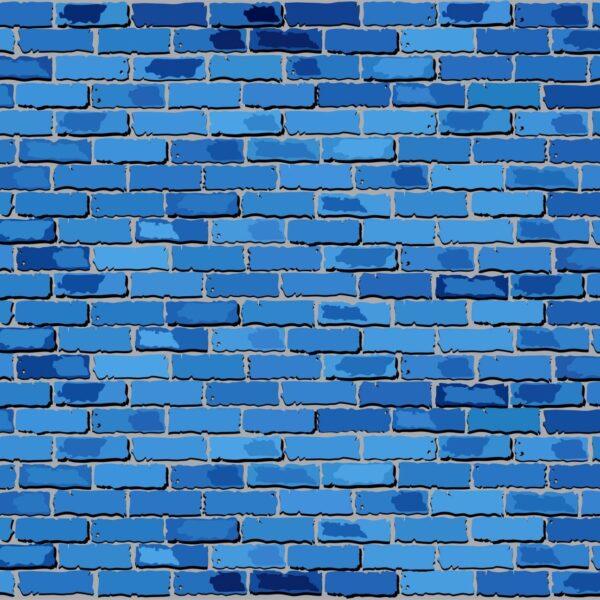 טפט לבנים כחול