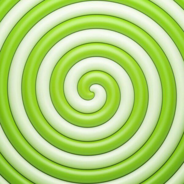 טפט ספירלה ירוק לבן