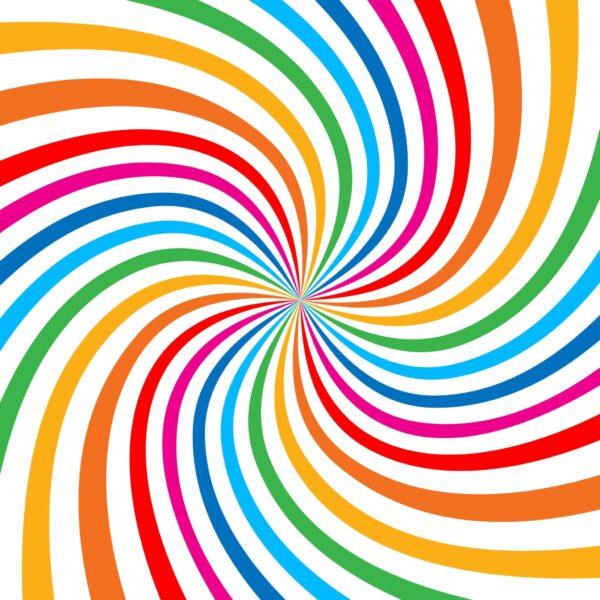 טפט ספירלה צבעוני