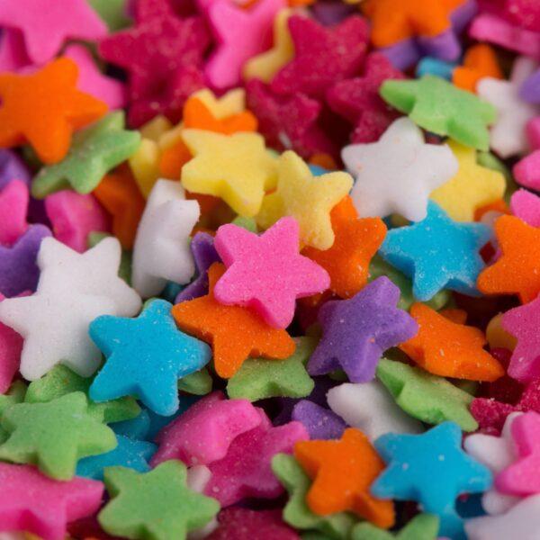 """סוכריות לעוגה כוכב צבעוני 6 מ""""מ"""
