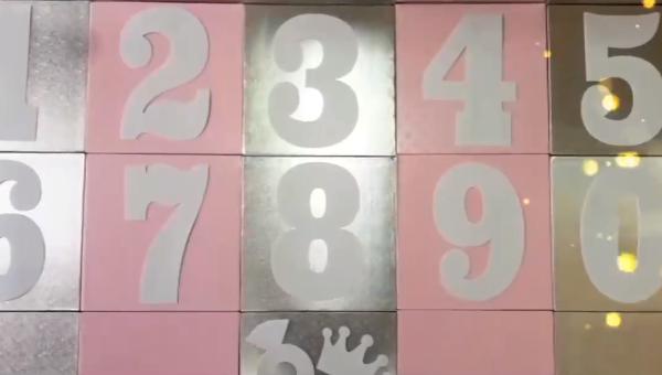 שבלונות מספרים לעוגות בצק פריך – A4