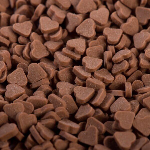 """סוכריות לעוגה לב בטעם שוקולד 6 מ""""מ"""