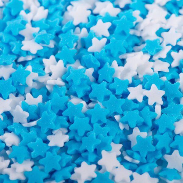 """סוכריות לעוגה כוכב כחול לבן 6 מ""""מ"""
