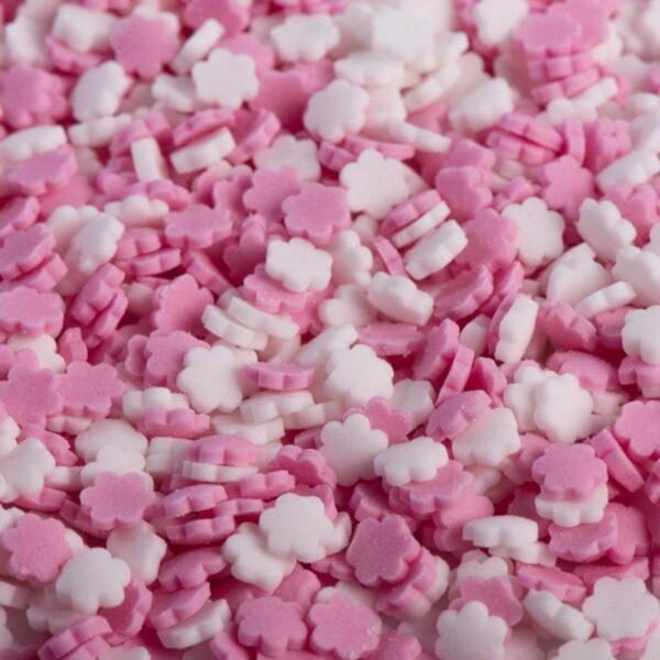 סוכריות פרח ורוד לבן צבע מאכל טבעי