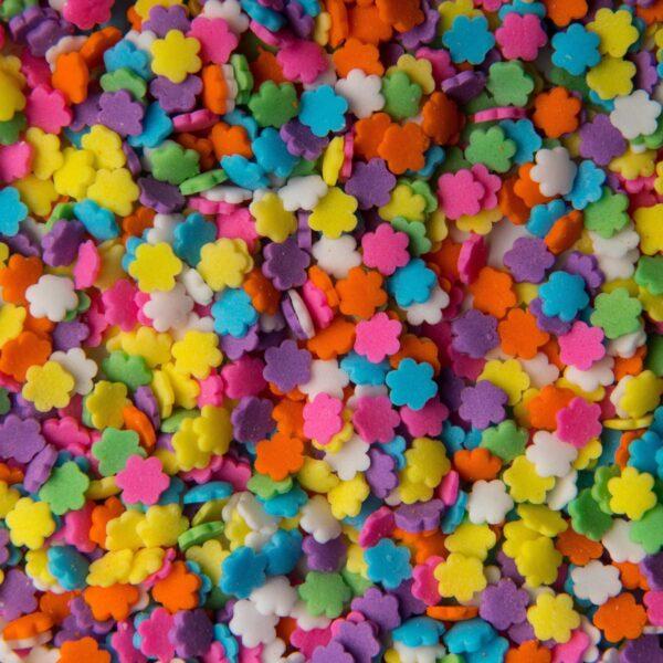 """סוכריות לעוגה פרח צבעוני 3 מ""""מ"""