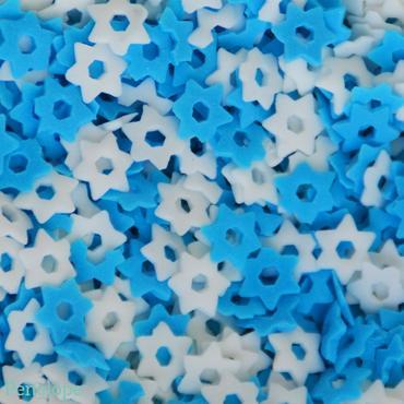 סוכריות לעוגה מגן דוד כחול לבן