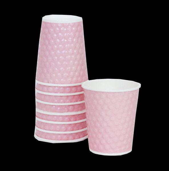 כוסות קרטון בועות ורוד בייבי – 20 יחידות