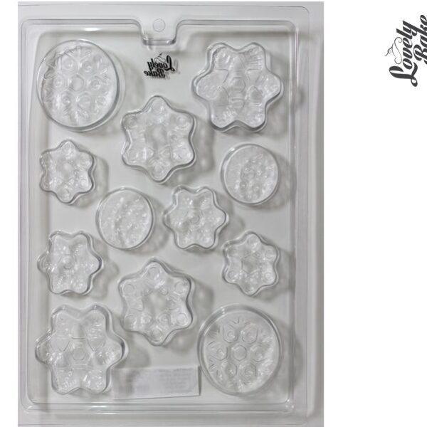 תבנית פלסטיק לשוקולד – פתיתי שלג