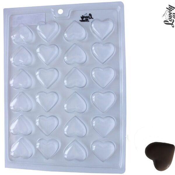 תבנית פלסטיק לשוקולד – לבבות
