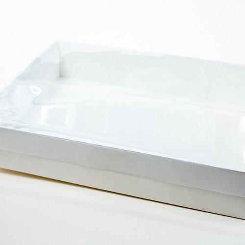 מארז לבן עם מכסה שקוף -35-25-7 יחידה