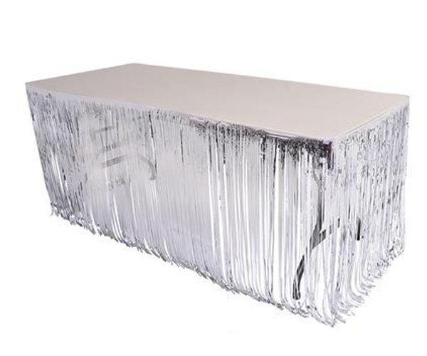חצאית שולחן פרנזים כסף