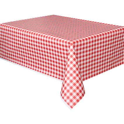 מפת שולחן פיקניק משבצות אדום לבן