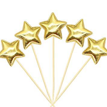 טופר כוכב זהב בד – 6 יחידות