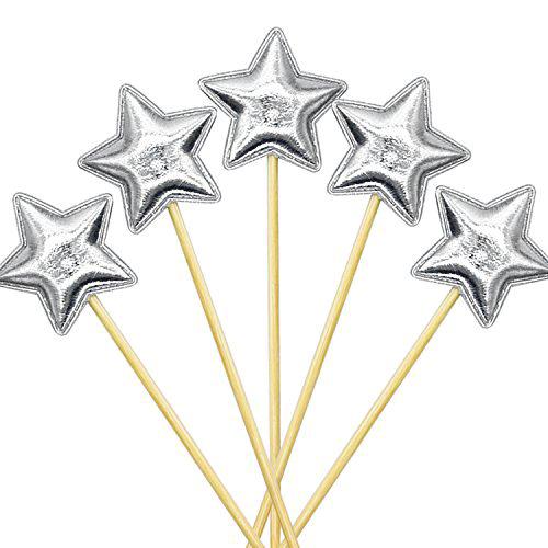 טופר כוכב כסוף בד – 6 יחידות