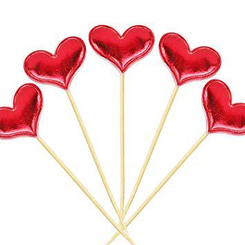 טופר לב אדום בד – 6 יחידות