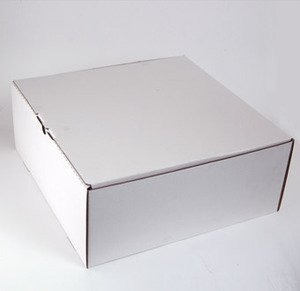 קרטון עוגה לבן 21X21X10