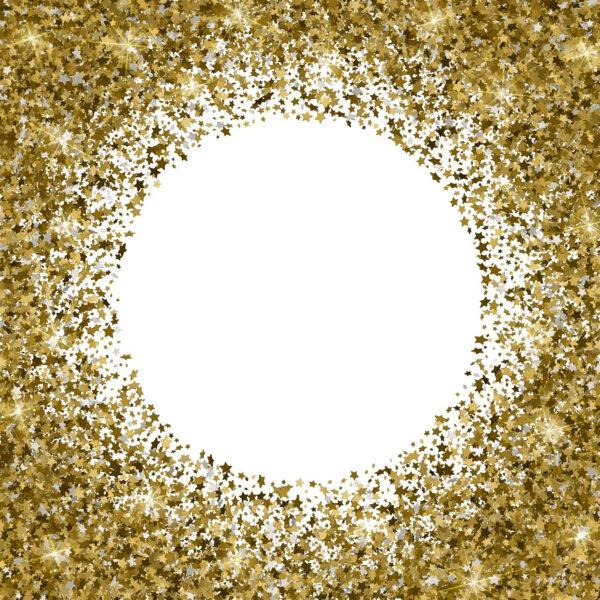 טפט מסגרת כוכבי זהב