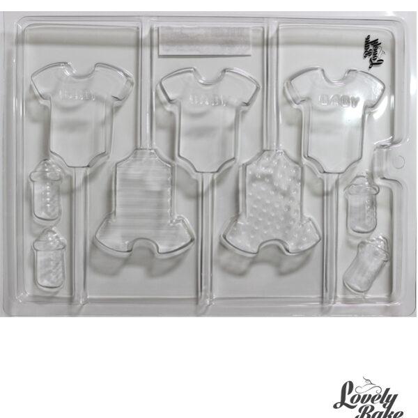 תבנית פלסטיק לשוקולד – בגדי תינוקות