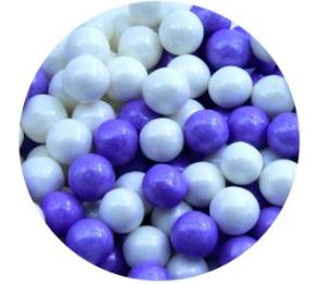 סוכריות פנינה מיקס סגול לבן קונפטי – 80 גרם