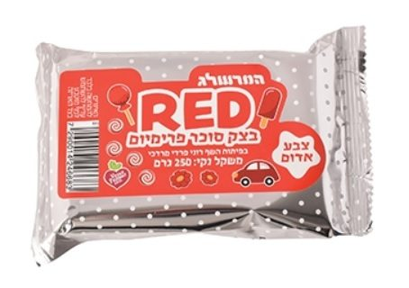 בצק סוכר אדום 250 גרם – המרשלג
