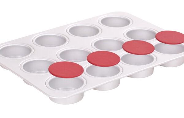 PUSH PAN – תבנית מאפינס 12 שקעים