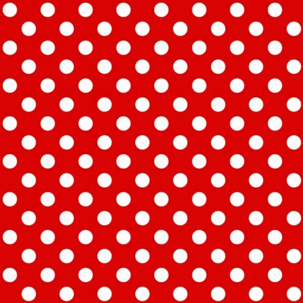 טפט נקודות לבן אדום