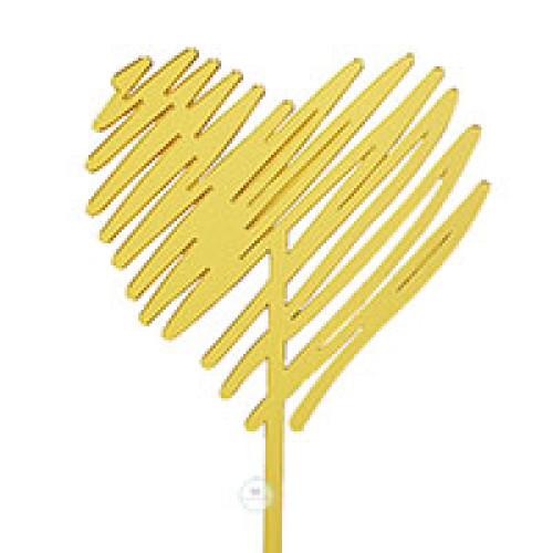 טופר לב זהב פסים