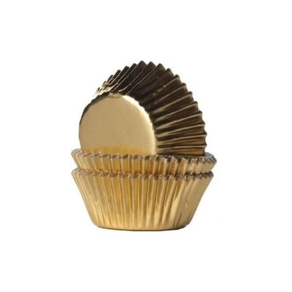 מנג'ט מטאלי צבע זהב 50 יחידות – גודל 4