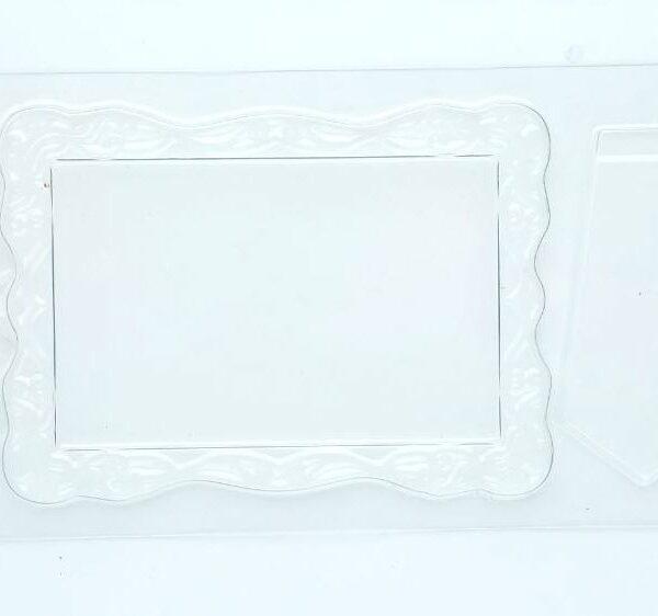 תבנית פלסטיק לשוקולד – מסגרת + רגל 14*10 סמ'