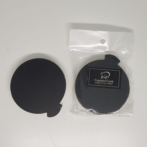 """תחתיות שחורות עיגול לקינוחים 8 ס""""מ – 20 יחידות"""