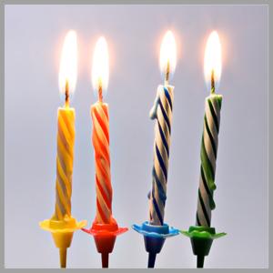 נרות יום הולדת, זיקוקים